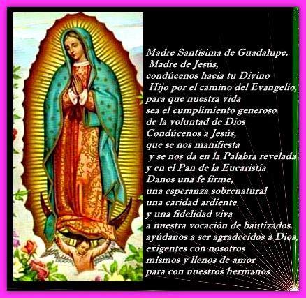 imagenes y oraciones ala virgen de guadalupe imagenes de la virgen de guadalupe con frases y oraci 243 n