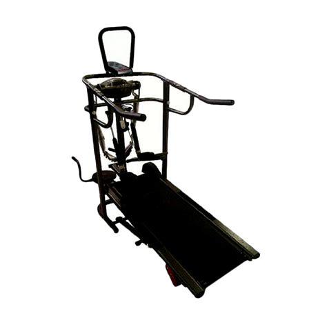 Treadmill Tl004 jual treadmill manual 6 fungsi tl004 hitam instalasi harga kualitas terjamin