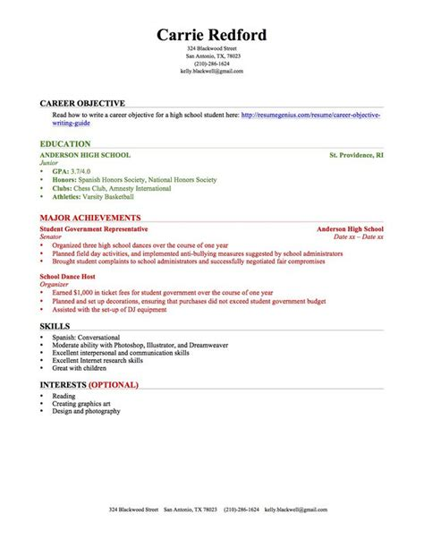 high school student resume objective professional gray high school student resume template