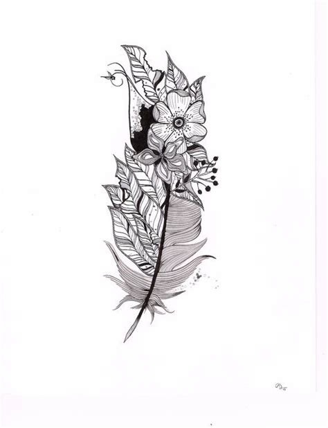 feather tattoo gun feathers and flowers 41 inspiring and mostly black and