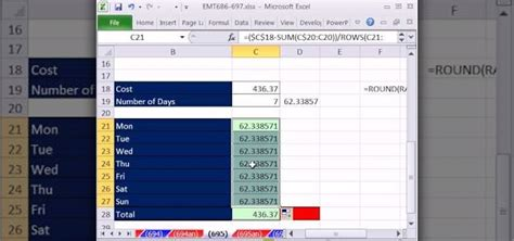 how to allocate total costs across categories in microsoft