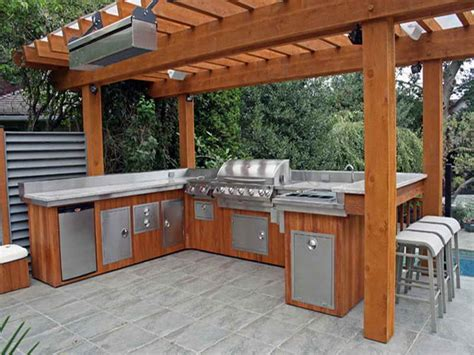 Outdoor Bbq Kitchen Designs Plans For A Built In Bbq Home Decoration