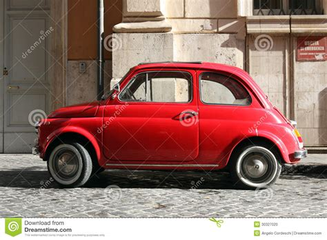 small compact vintage car stock photo image