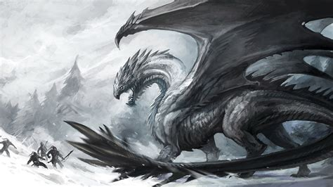 Black And White Dragon Wallpaper | black and white dragon wallpaper wallpapersafari