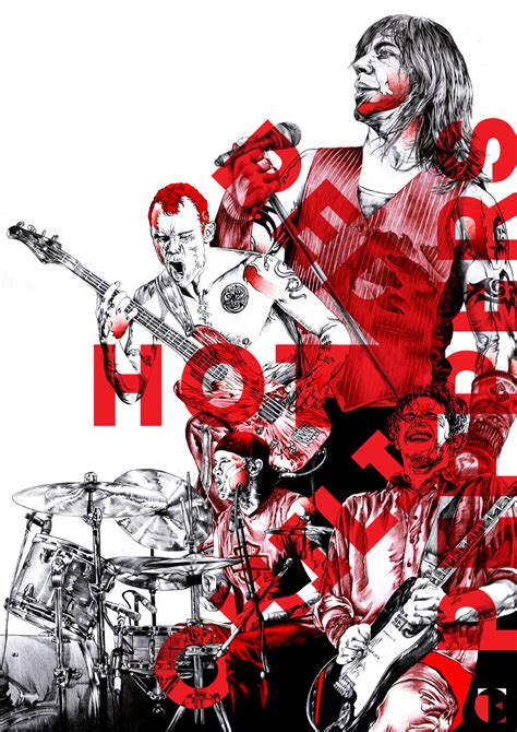 red hot chili peppers in color poster home decor gift by red hot chili peppers posterspy