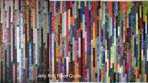 Average Quilt Size by Exuberant Color Jelly Roll Race A K A Random Plank Quilt
