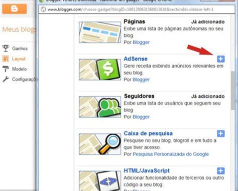 tutorial adsense blogspot blogger como ganhar dinheiro no blog com google adsense