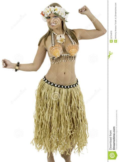 fotos trajes hawainas mujer bonita vestida en traje hawaiano foto de archivo