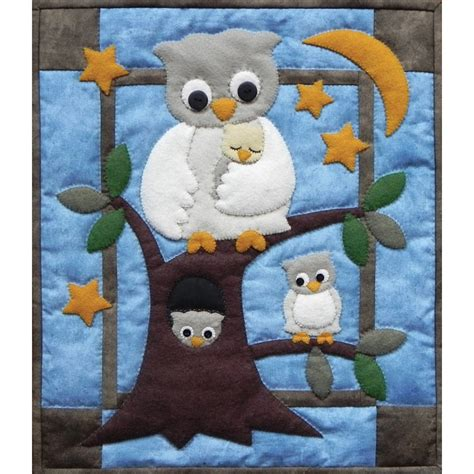 Owl Quilt Kits by Owl Family Wall Quilt Kit For Beginners Applique Quilt