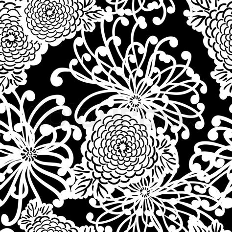vector pattern art deco art deco flower seamless pattern retro style vector