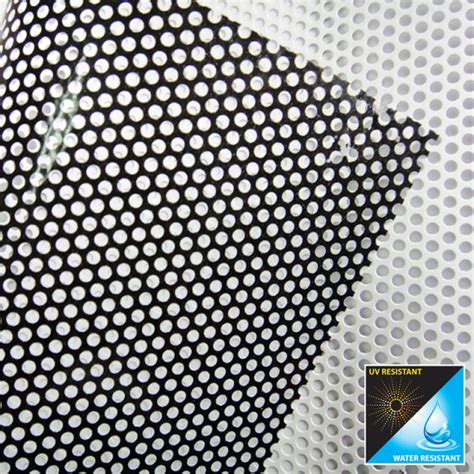 printable vinyl mesh perforated window stickers custom mesh vinyl sticker