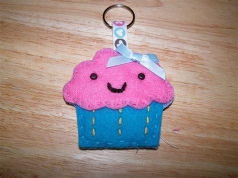cupcake keyring  fabric food charm sewing  cut