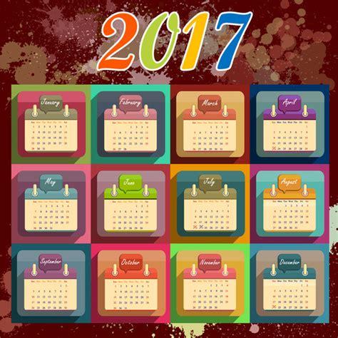 Design Calendar 2017 Template 2017 calendar design template free vector 16 442