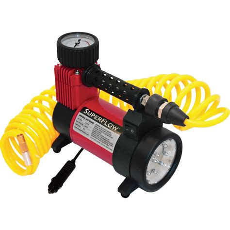 superflow air compressor with led light 12 volt 110 psi model hv 40a2 ebay