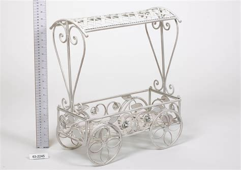 french style plant cart cream decorative  compact