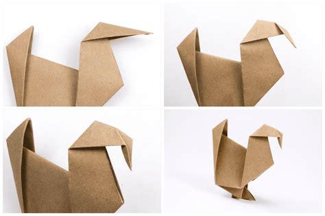 How To Make Origami Turkey - easy origami turkey tutorial origami handmade