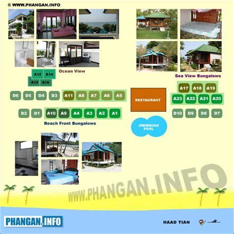 haad tien resort map haad tian koh phangan thailand rooms and prices