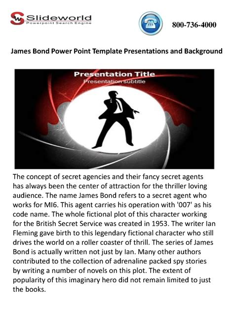 powerpoint templates james bond james bond powerpoint template presentations and