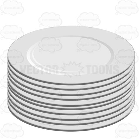 Back Yard Kitchen Ideas by Stack Of White Plates Cartoon Clipart Vector Toons