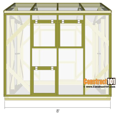 green house plan greenhouse plans 8 x8 step by step plans construct101