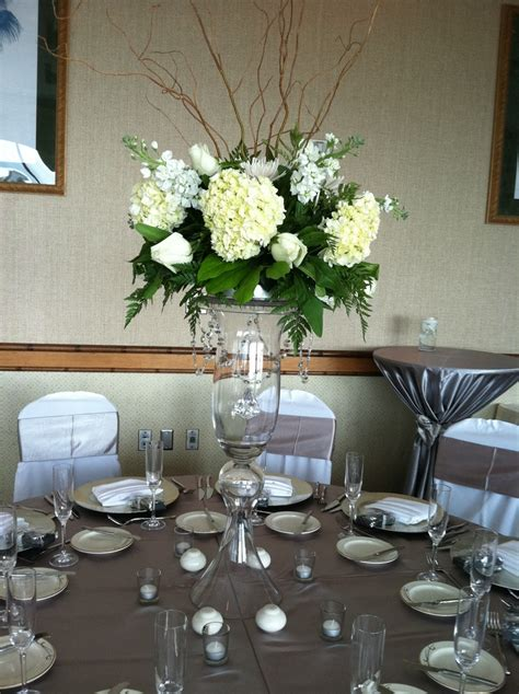 silver wedding centerpiece 25th anniversary ideas
