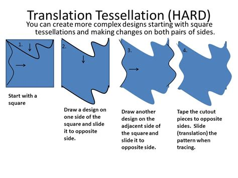 how to make a tessellation template with an index card tessellation project ppt