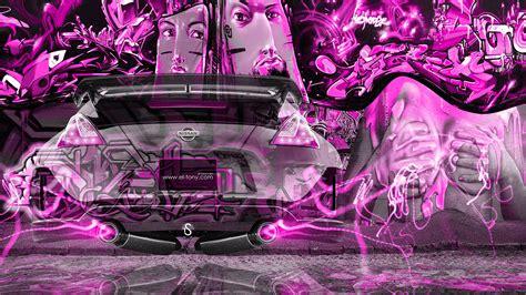 wallpaper graffiti pink nissan 370z jdm city fantasy crystal graffiti fly car 2014
