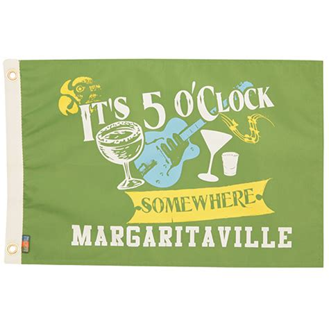 margaritaville boat flags margaritaville five o clock somewhere novelty flag west