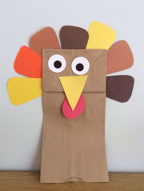 Thanksgiving Paper Crafts For - this paper bag turkey puppet is a simple thanksgiving