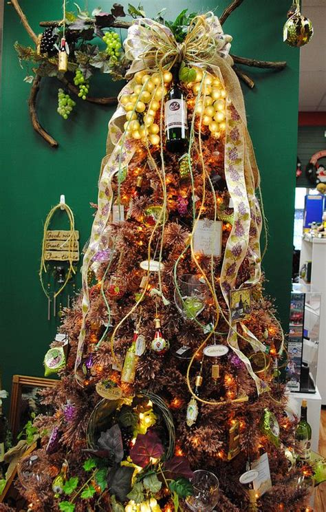 themed christmas trees christmas trees and wine on pinterest