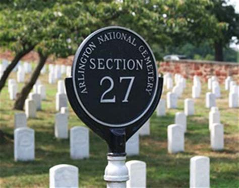 section 27 arlington national cemetery section 27