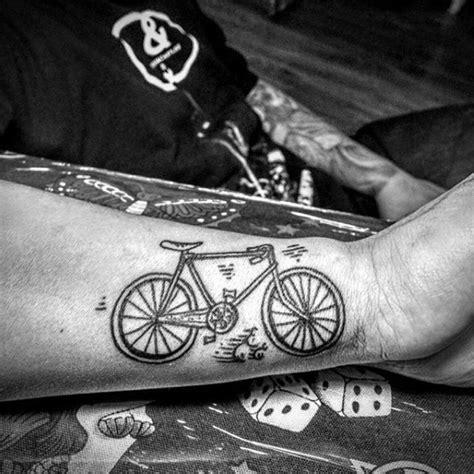 simple designed black ink music black ink simple design cycle on arm tattooimages biz