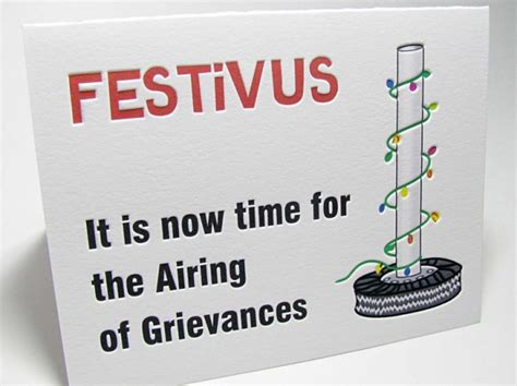 Festivus Airing of Grievances Holiday Cards   Digby & Rose