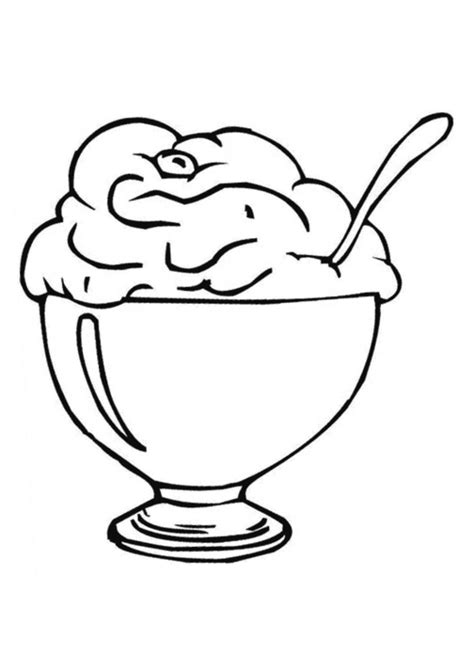 ice cream dish coloring page ice cream sundae coloring page coloring home