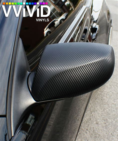 vvivid ft  ft black carbon fiber vinyl car wrap film
