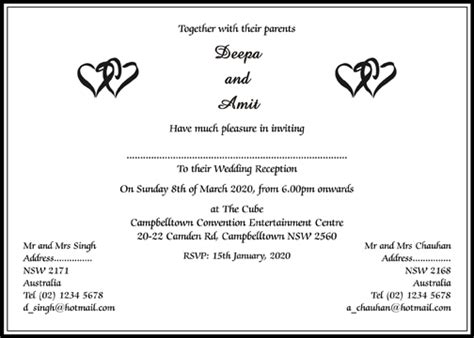 format of wedding invitation card in hindu wedding cards wordings hindu wedding invitations wordings