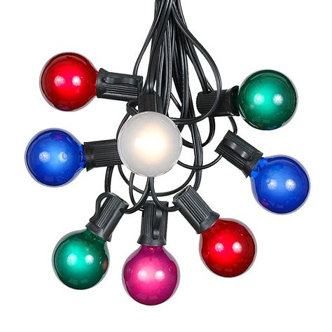 100 Multi Colored G40 Globe/Round Outdoor String Light Set