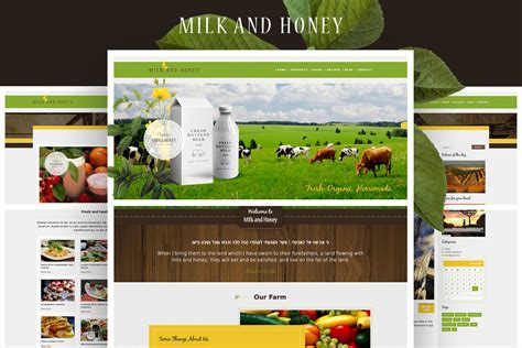 themes for html page milk and honey wp theme for farmers and agriculture
