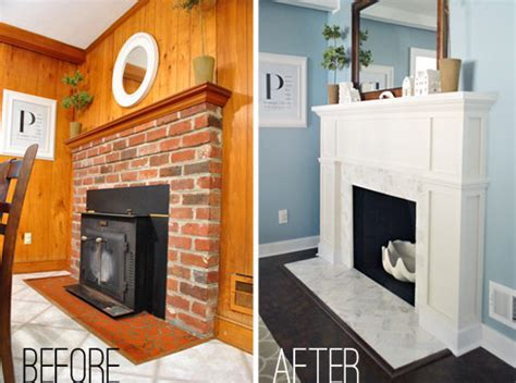 our 200 fireplace makeover marble tile a new mantel house