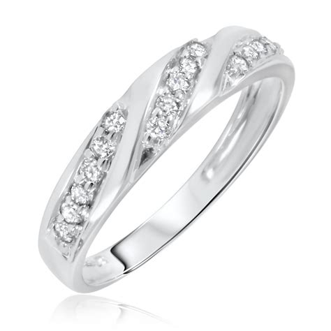 White Gold Photos by 2018 Popular White Gold Wedding Bands