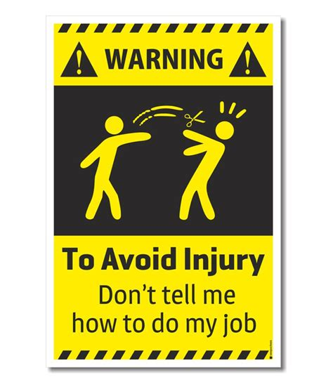 rawpockets warning to avoid injury don t tell me how to