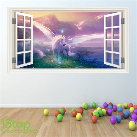 Bedroom Wall Stickers For Girls unicorn wall stickers wall art kids