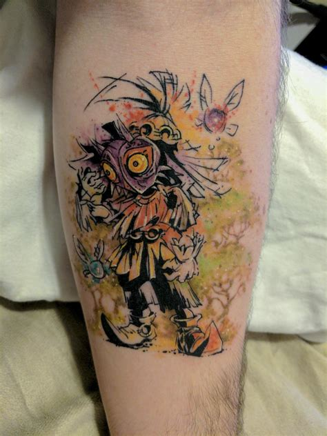 skull kid tattoo skull kid by chronic ink toronto