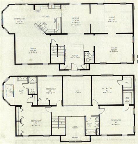 2 story open floor plans open floor house plans two story numberedtype