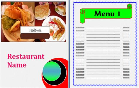 7 menu template procedure template sle