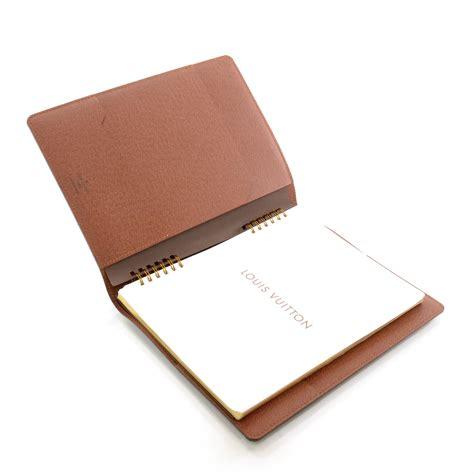 louis vuitton monogram desk agenda cover w notebook 36457