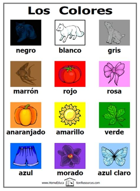 color in spanish free los colores activity set printable spanish