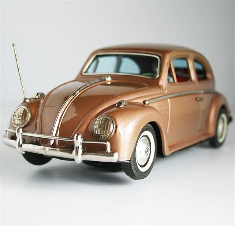 volkswagen brown bandai 60 s light brown volkswagen beetle rare battery