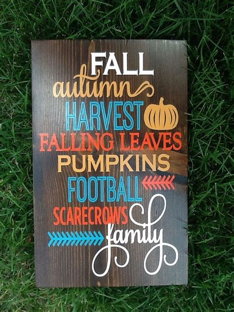 wooden fall decor fall wood sign home decor autumn home by