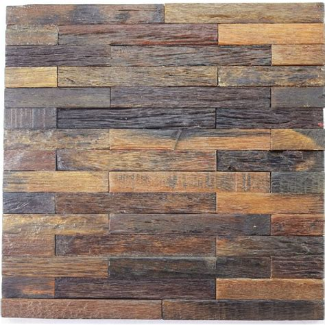 natural wood mosaic tile rustic wood wall tiles nwmt010
